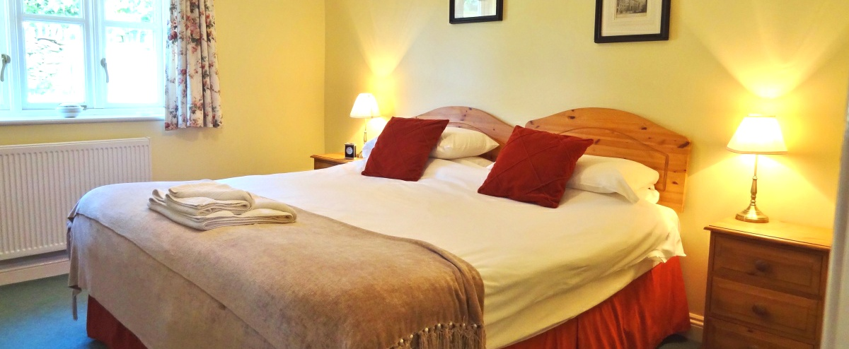 Comfortable relaxing bedrooms in our self catring holiday cottages.