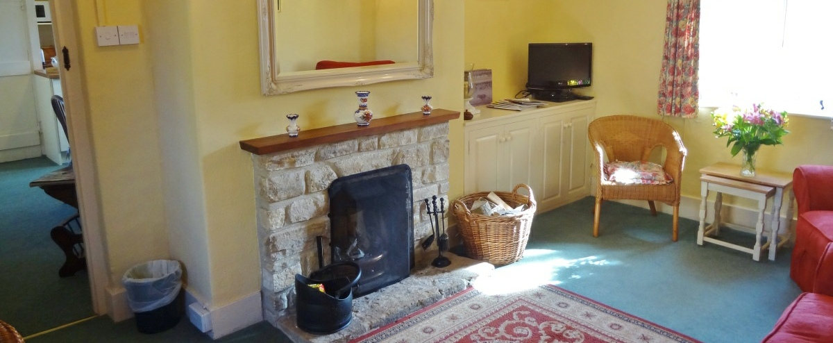 Enjoy log fires in the sitting room